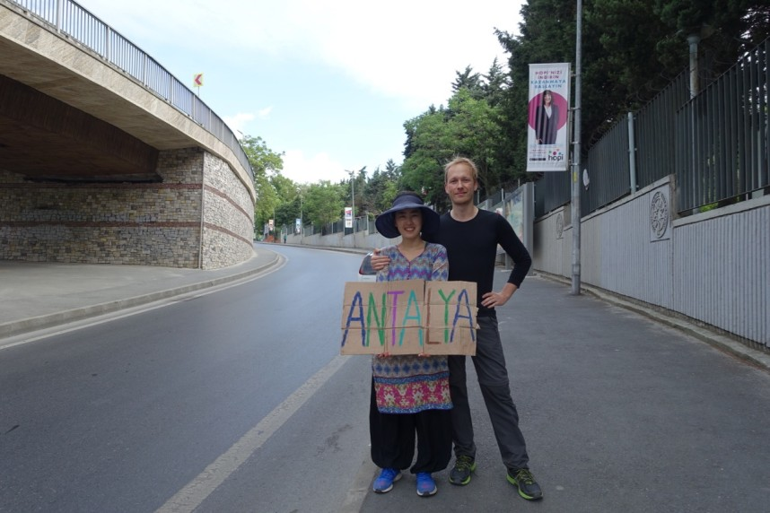 Hitchhiking in Istanbul